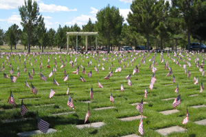 Flags in Boulder City Cemetery