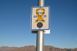 Veterans Memorial Drive Signs in Boulder City, NV