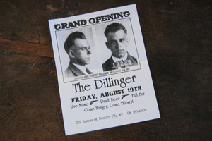 The Dillinger Grand Opening in Boulder City, Nevada