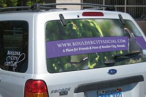 Escape Window Decal for Boulder City Social