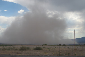 Haboob in Boulder City, Nevada - August 25, 2011