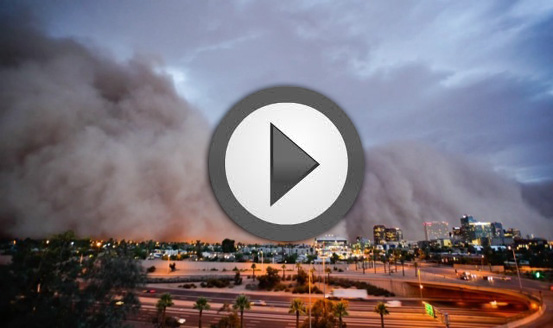 Haboob Time Lapse Video in Phoenix, AZ