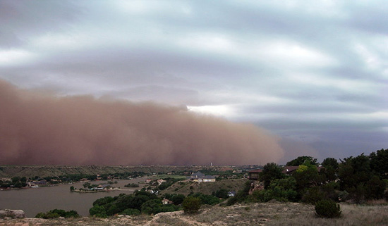 Haboob in Ransom Canyon, TX