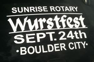 Wurstfest 2011 Car Window in Boulder City, NV