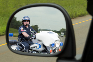 Police in Rearview Mirror
