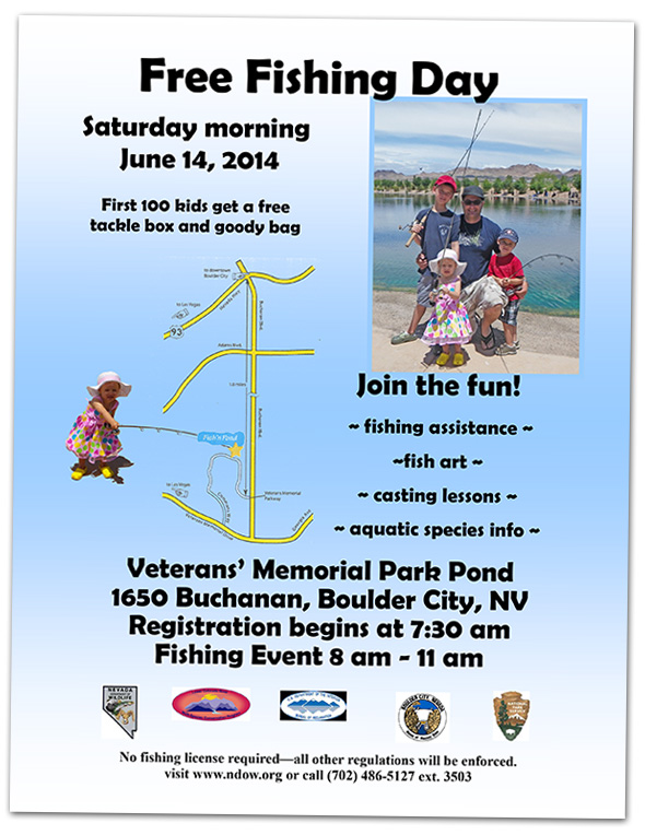free fishing day at veterans memorial park