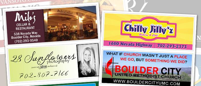 Sidebar Advertising on Boulder City Social