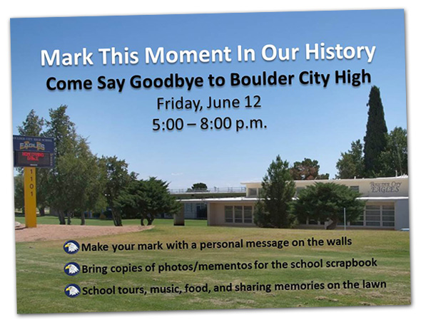 Say Goodbye to Boulder City High School, in Boulder City, NV