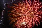 Fan Photo Charlotte Tallas Lightning & Fireworks in Boulder City, Nevada