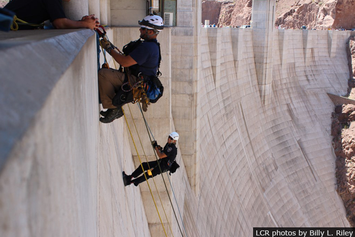 Extended Distance Rope Rappelling on Hoover Dam … Oh My!