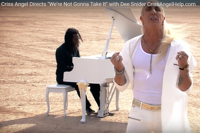 Criss Angel & Dee Snyder Music Video at Dry Lake Bed