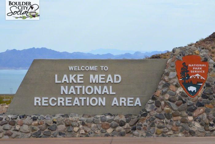 Lake Mead National Recreation Area Sign Near Boulder City, Nevada