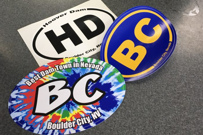 Vehicle Decal Stickers for Boulder City & Hoover Dam