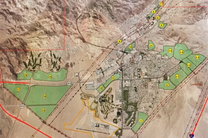 Red Dot Green Dot Maps on Land Management Plan in Boulder City, Nevada