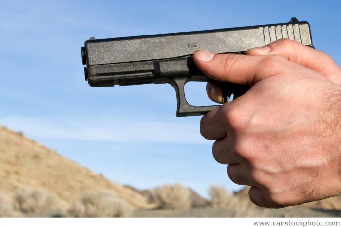 Handgun in Desert