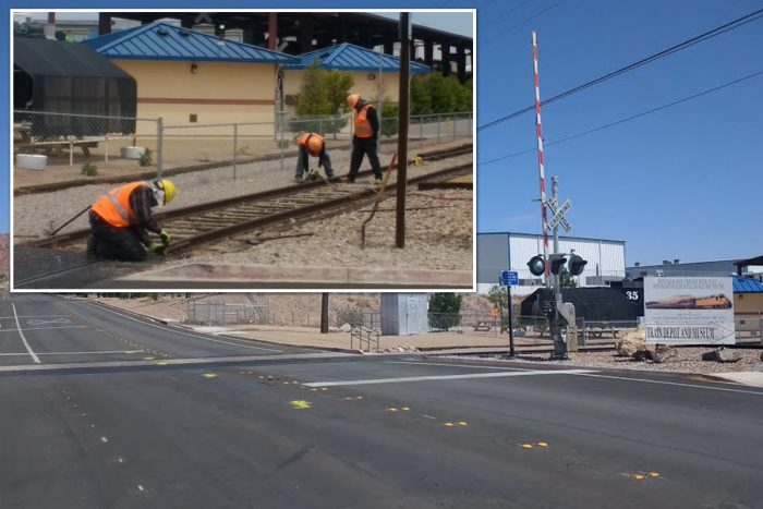 Snazzy New Train Tracks Goin' In on Yucca