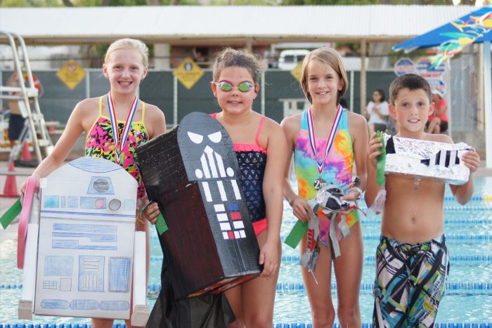Cardboard Boat Races at the Boulder City Pool!