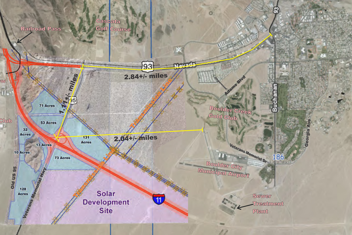 City Hall Posts Official Information On The I 11us 95 Interchange - Hoover-dam-on-us-map