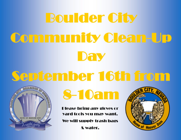 Boulder City, NV Community Clean-up Flyer
