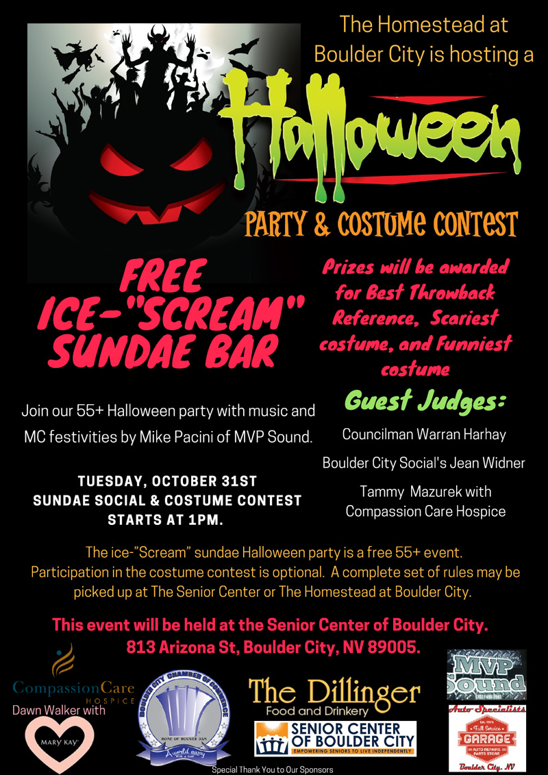 Homestead Halloween Event Flyer Boulder City, NV