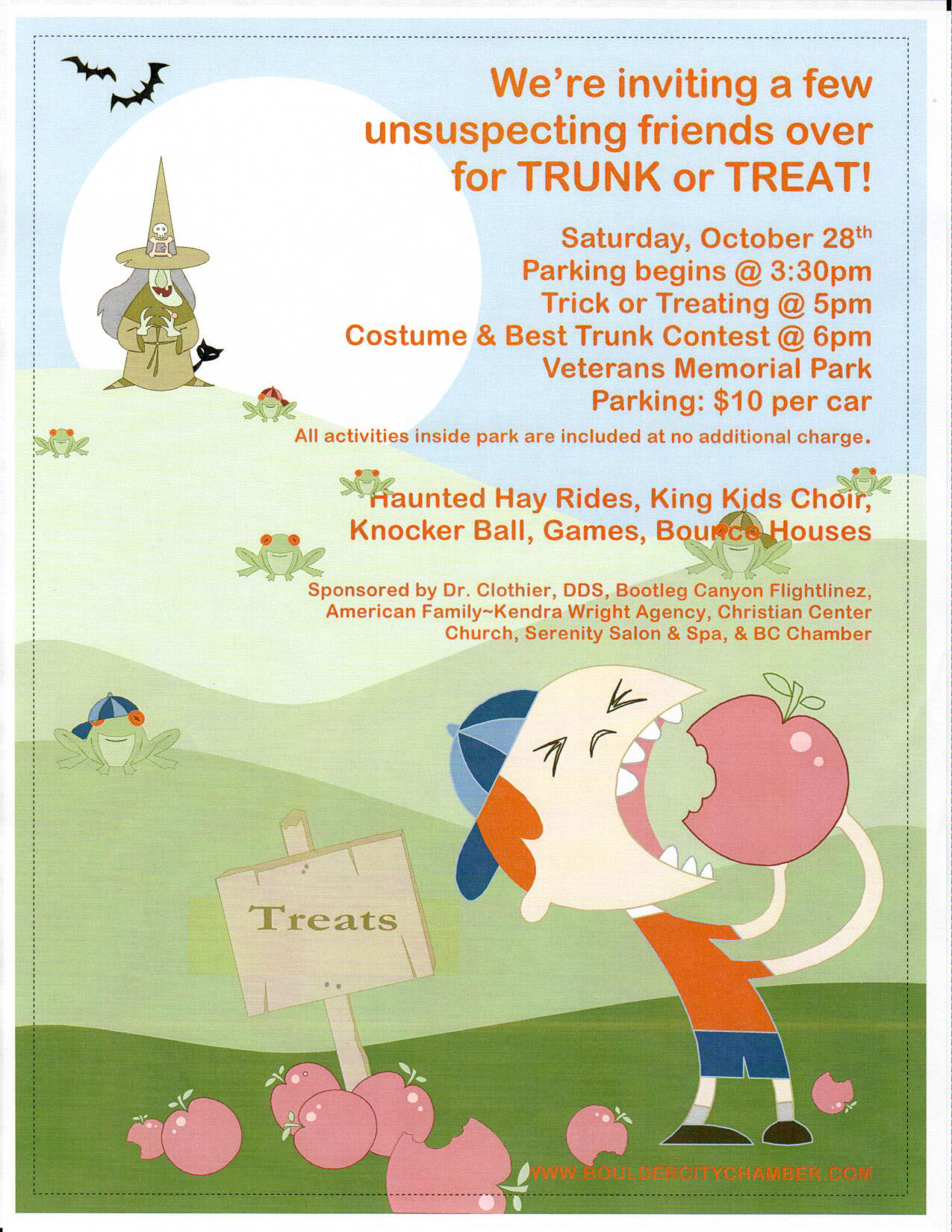 Trunk Treat Flyer Boulder City, Nevada