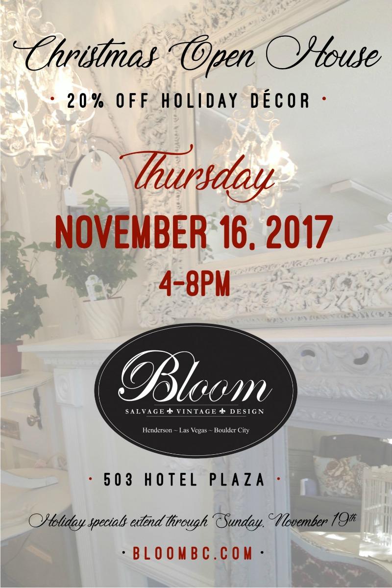 Bloom Open House Flyer Boulder City, NV