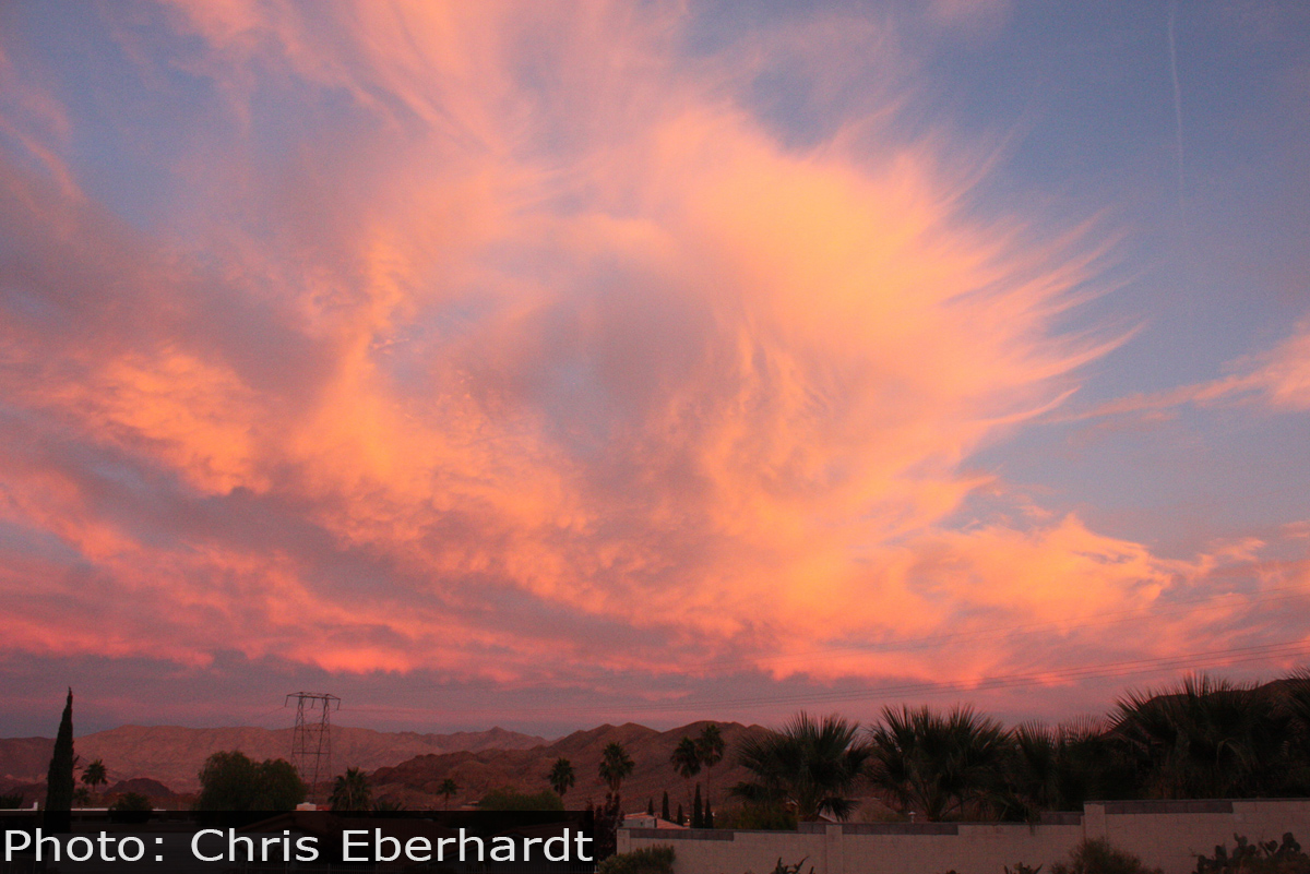 Fan Photo Sunset Chris Eberhardt Boulder City, NV