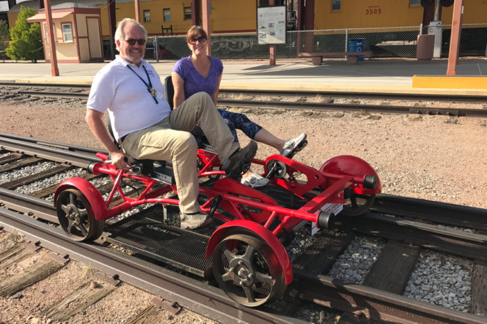 Rail Bikes at Boulder City, Nevada