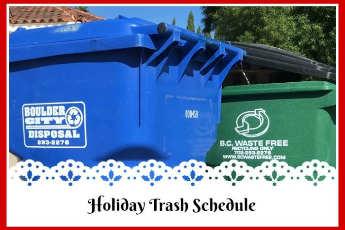 2017 Holiday Trash Schedule