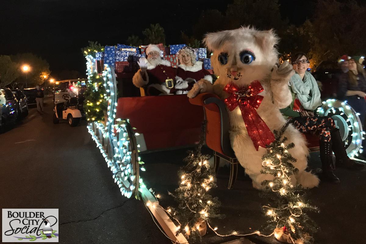 Jingle Cat Santa Sleigh Boulder City, Nevada