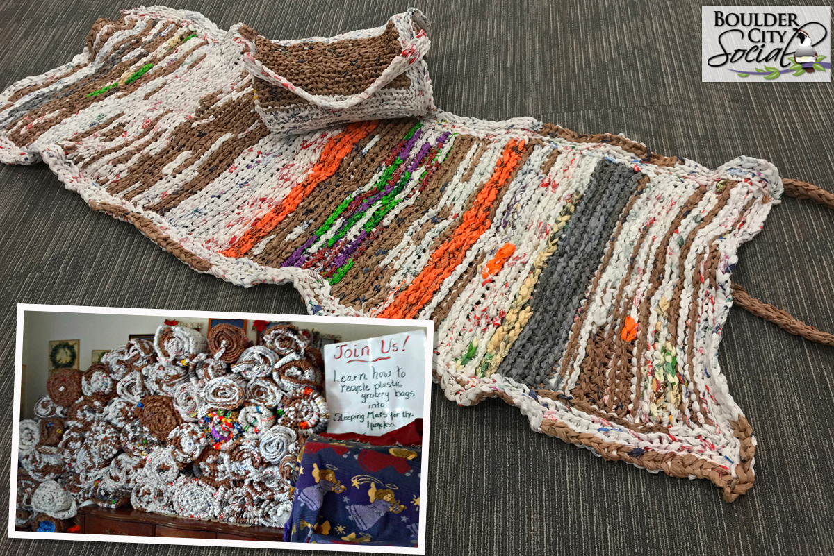 Good Deeds Turn Plastic Shopping Bags Into Mats For The Homeless