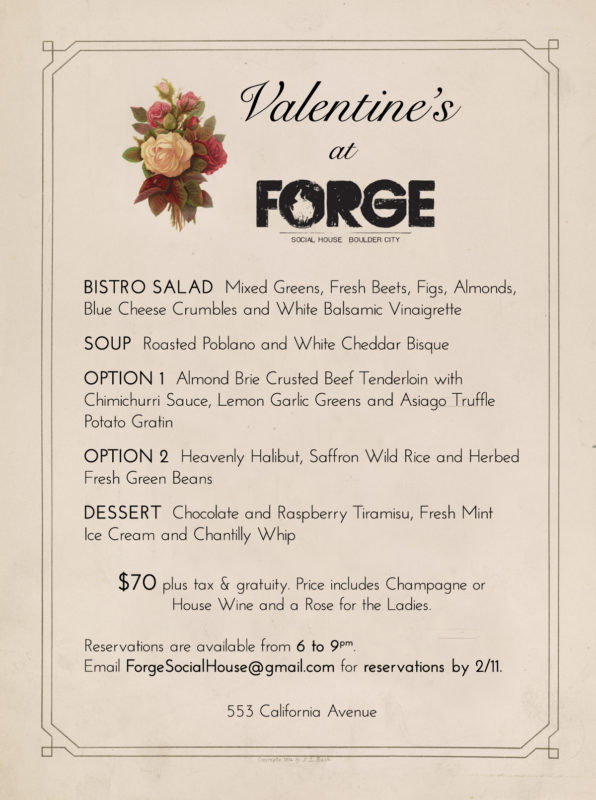 Valentine's Day at Forge 2018 Boulder City, NV