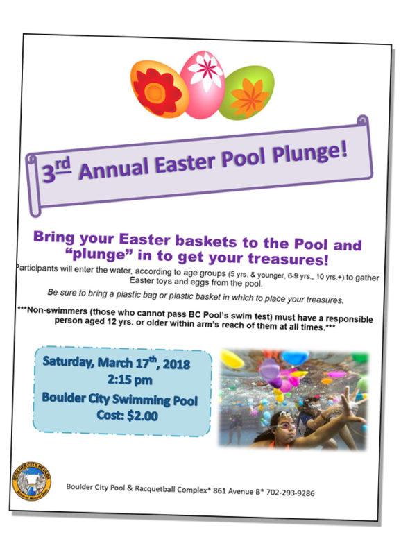 Easter Pool Plung Poster 2018 Boulder City, NV