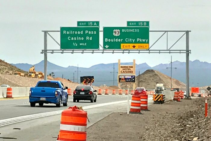 """Finally – All Signs to Boulder City Corrected to """"Parkway"""""""