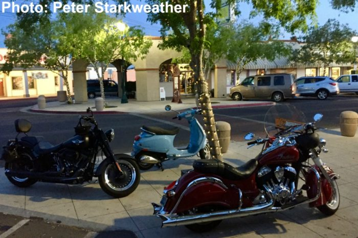 Fan Photo: Three Hogs – a Harley, a Vespa and an Indian
