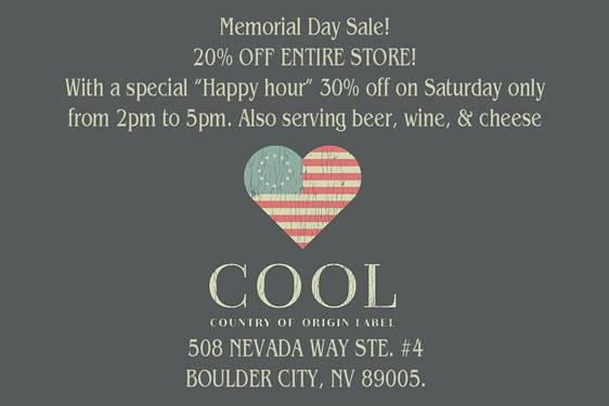 COOL Memorial Weekend Sale Boulder City, NV