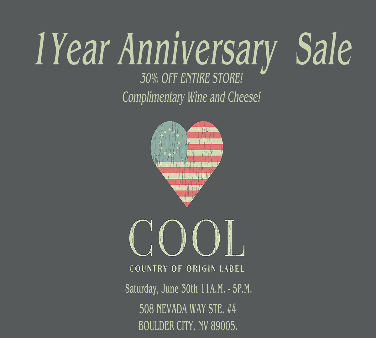 COOL Anniversary Sale Boulder City, NV