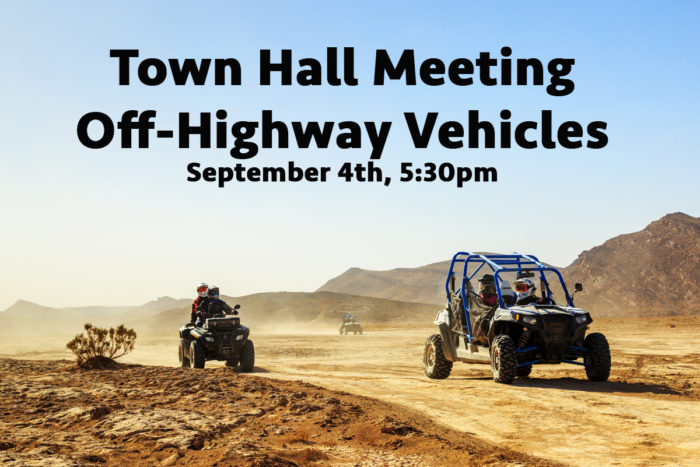 Town Hall Meeting Set to Discuss the OHV Question