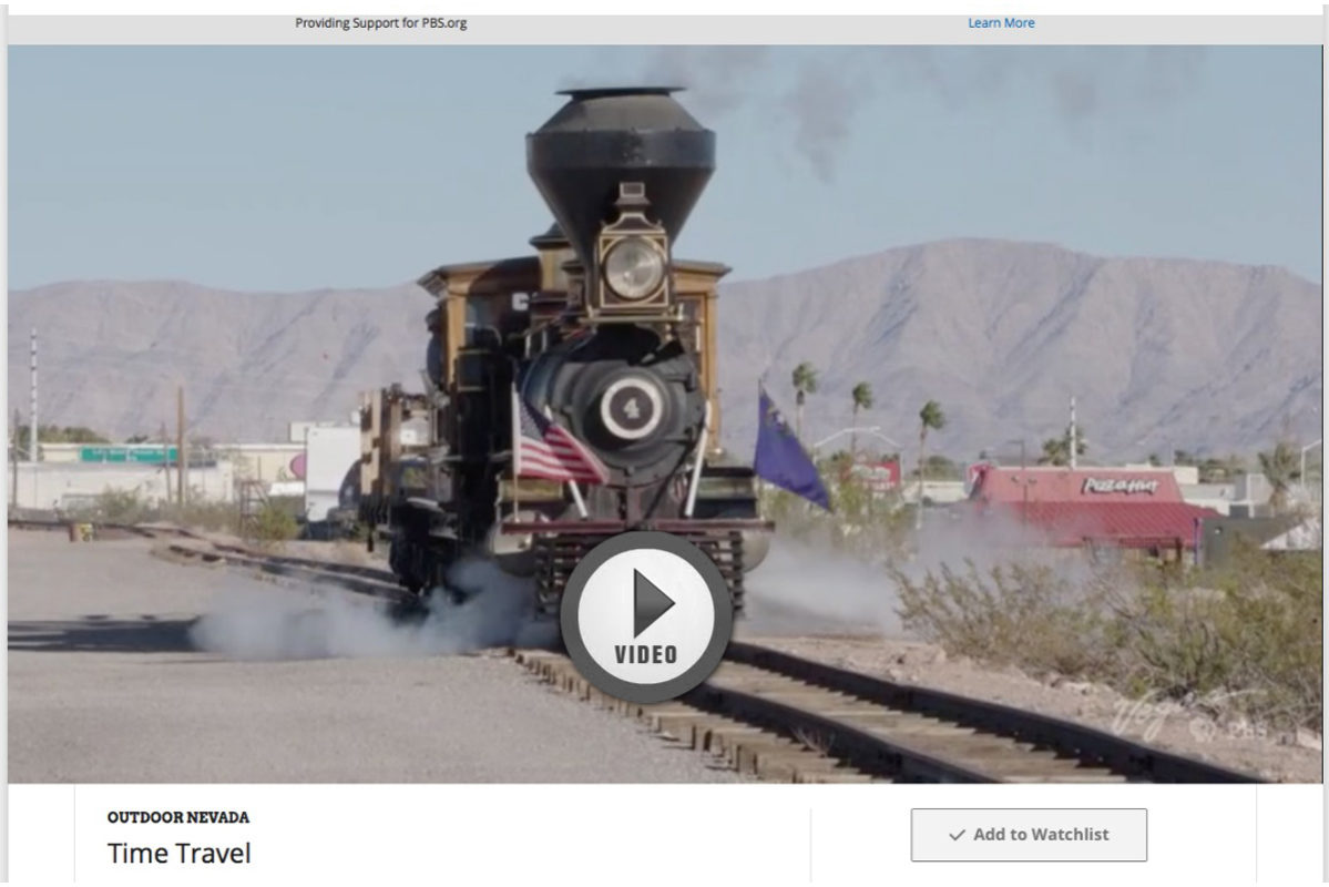 PBS Show BC Railroad Boulder City, Nevada