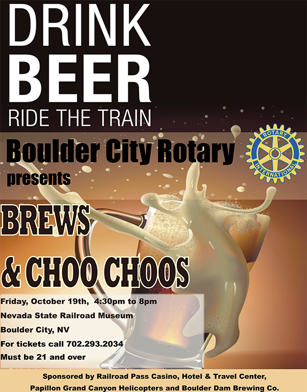 Brews and Choo Choos Flyer Boulder City, NV