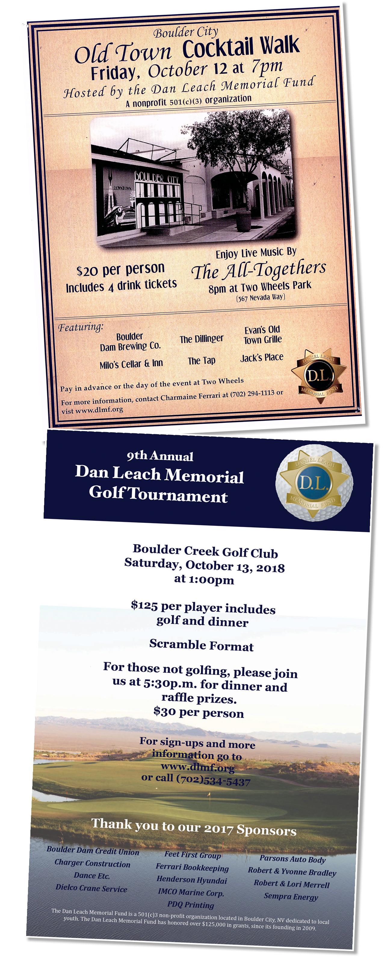 Dan Leach Fund Flyers 2018 Boulder City, Nevada