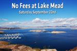 No Fee Day Lake Mead Boulder City, NV