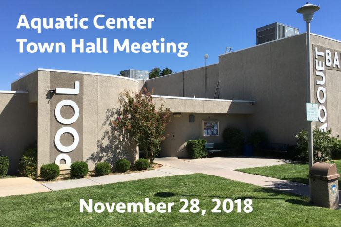 Aquatic Center Town Hall Meeting Boulder City, NV