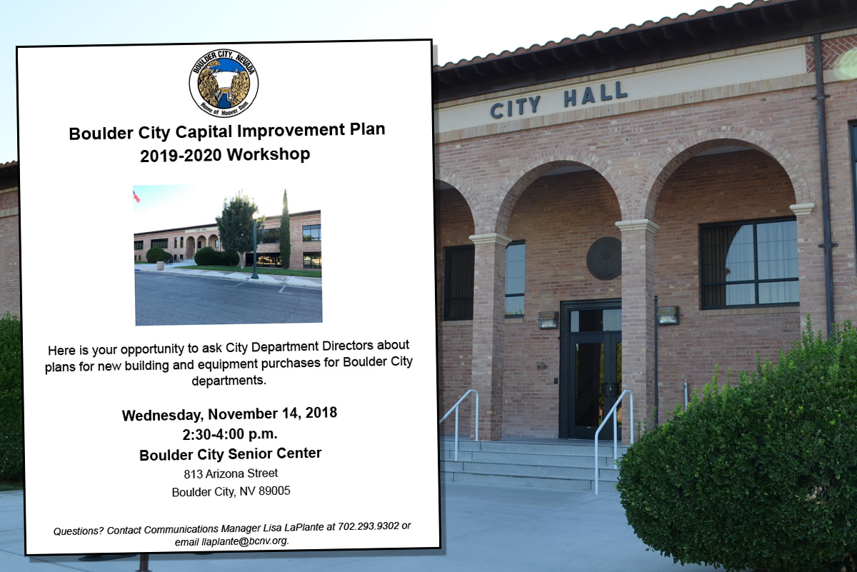 Capital Improvement Plan Workshop Boulder City, NV
