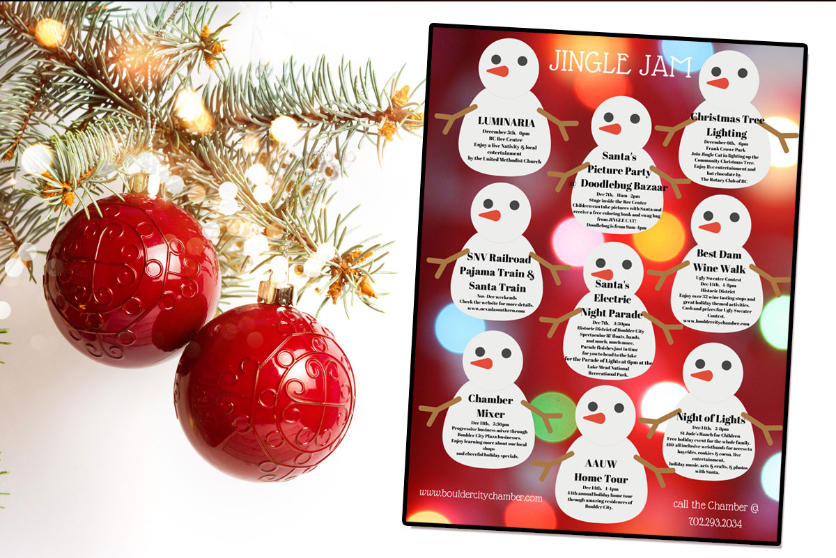 Chamber Holiday Events Ad Boulder City, Nevada