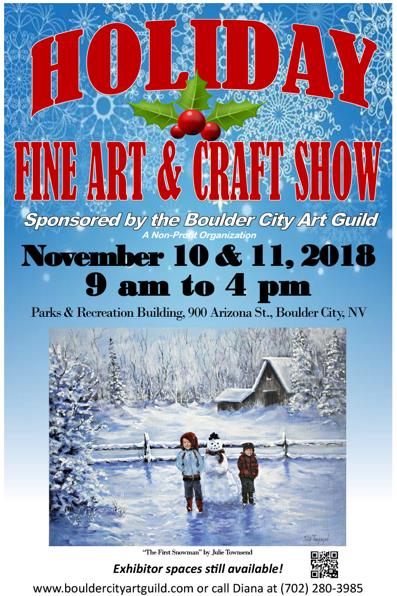 Holiday Craft Show Flyer Boulder City, NV