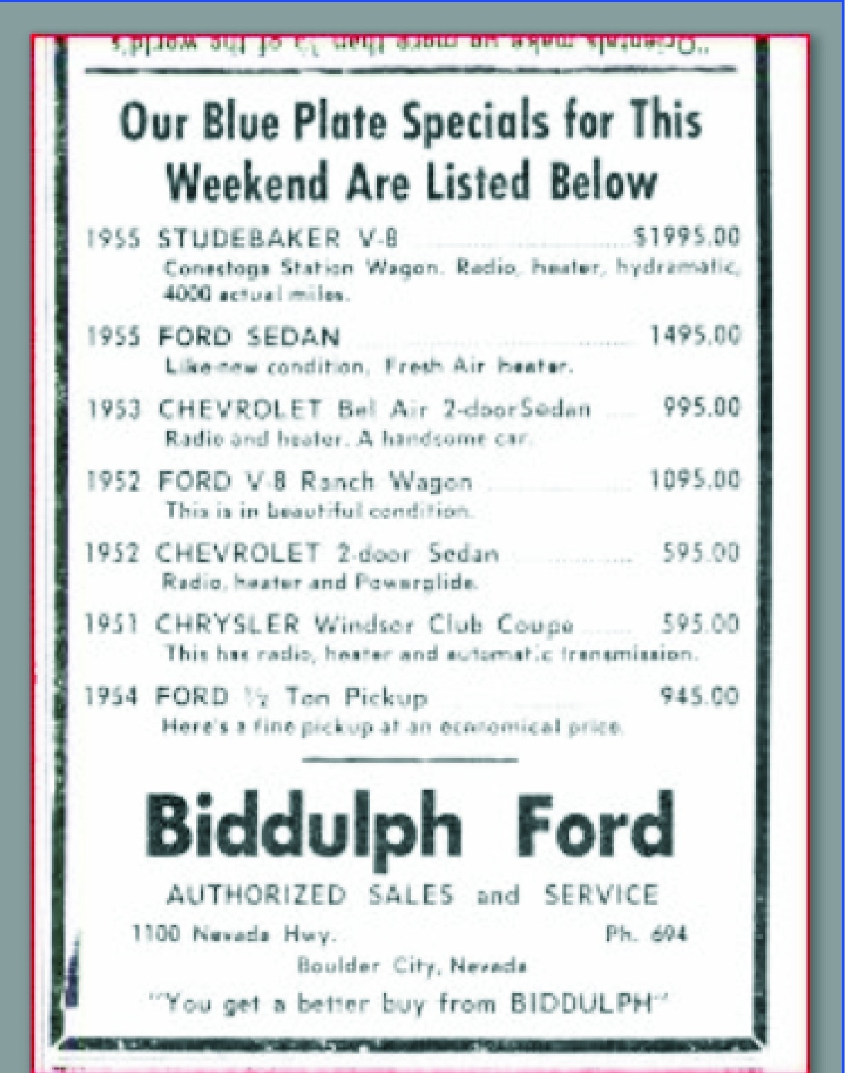 Jim Widner Biddulph Ford Flyer