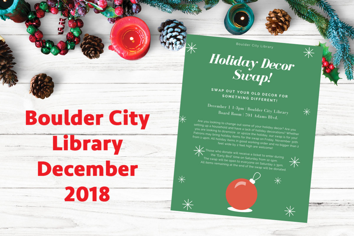Library Events December Boulder City, Nevada