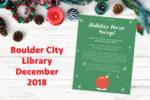 Library Events December Boulder City, Nevada
