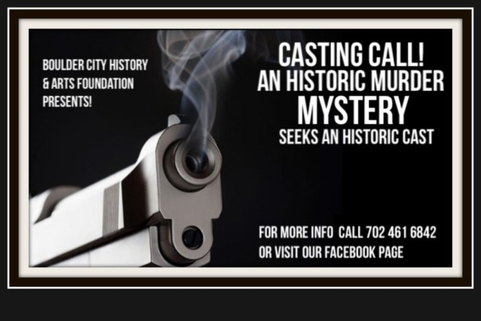 Murder Mystery Casting Call Boulder City, NV
